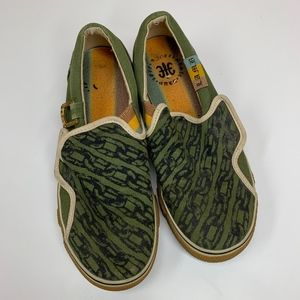 L.A.M.B. Green Chains Slip On Sneakers Women's 7.5